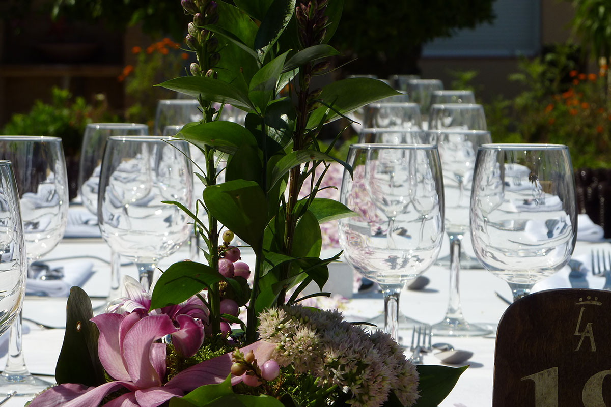 DETALLE MESA BODA - CELEBRATE YOUR EVENTS IN THE HOTEL LOS ANGELES DENIA
