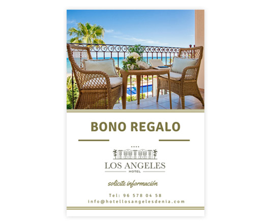 bono regalo hotel los angeles denia 1 - Gift voucher