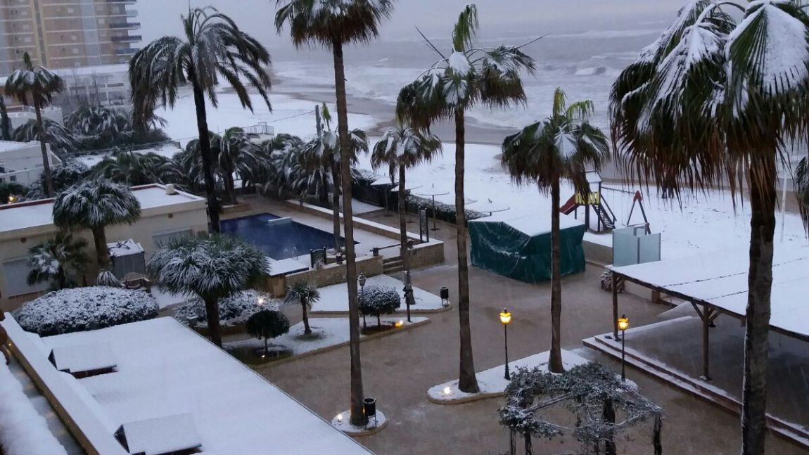 Enamorados de Dénia, también nevada