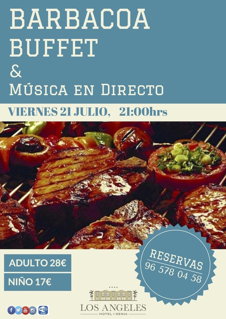 Buffet Barbacoa 21.07.17 - Barbacoa y música en directo junto al mar